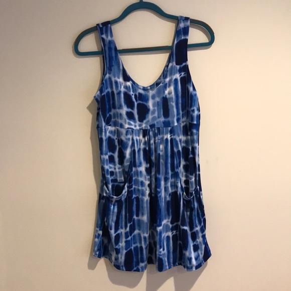 abafe94cb79 J Valdi Blue Tie Dye Sleeveless Dress NWT